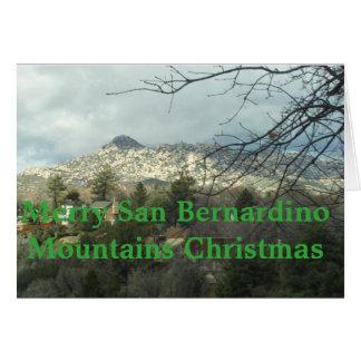 Frohe San- Bernardinogebirgsweihnachten Karte