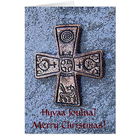 Frohe skandinavische Weihnachten! Grußkarte