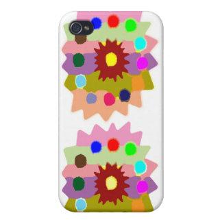 Frohe Sonnenblume-Bildungen der Kinderfarbbläser-n iPhone 4 Schutzhülle