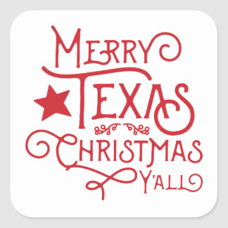 Frohe Texas-Weihnachten Sie Aufkleber