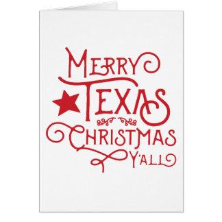 Frohe Texas-Weihnachten Sie Gruß-Karte Karte