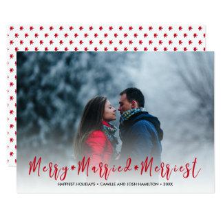 Frohe, verheiratete, fröhlichste 12,7 x 17,8 cm einladungskarte