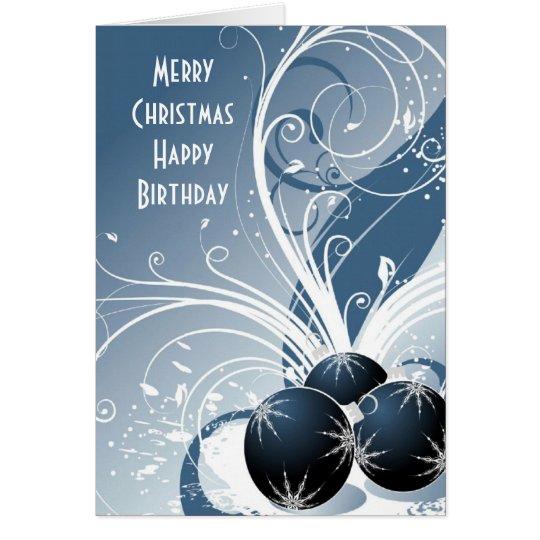 Frohe Weihnacht-alles Gute zum Geburtstag Karte