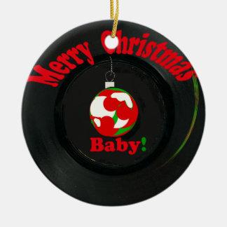Frohe Weihnacht-Baby! Rekordverzierung Keramik Ornament
