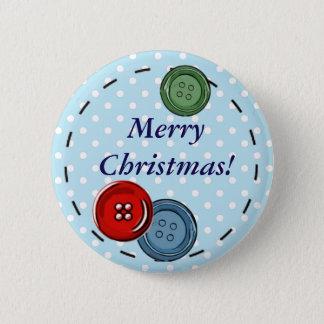 Frohe Weihnacht-Button mit niedlichen Knöpfen u. Runder Button 5,1 Cm