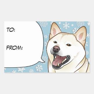 Frohe Weihnacht-Creme Shiba Inu Geschenk-Umbau Rechteckiger Aufkleber