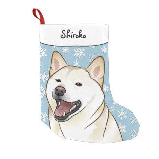 Frohe Weihnacht-Creme Shiba Inu Strumpf Kleiner Weihnachtsstrumpf
