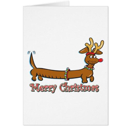 Frohe Weihnacht-Dackel Karte