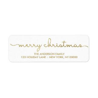 Frohe Weihnacht-einfache Goldhand beschrifteter