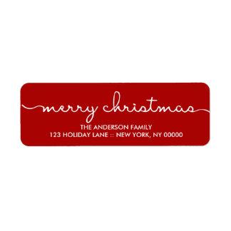 Frohe Weihnacht-einfache rote Hand beschrifteter