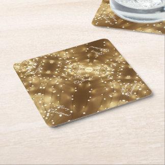 Frohe Weihnacht-elegante festliche Schnur der Rechteckiger Pappuntersetzer