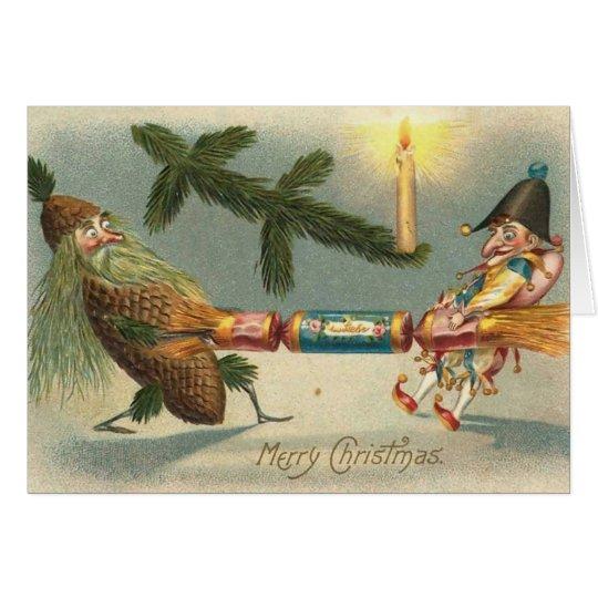 Frohe Weihnacht-Elf-Spielen Grußkarte