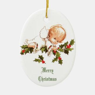 Frohe Weihnacht-Engelchen Keramik Ornament