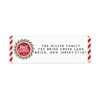 Frohe Weihnacht-Feiertags-Adressen-Etiketten