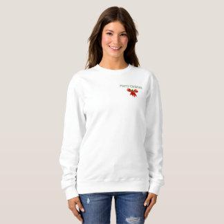 Frohe Weihnacht-Feiertags-Bogen und Stechpalme Sweatshirt