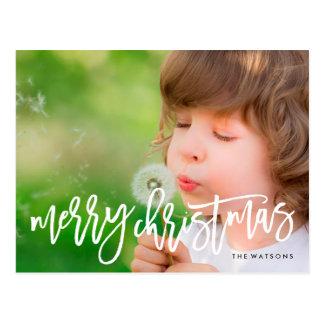 Frohe Weihnacht-Feiertags-Postkarte Postkarte