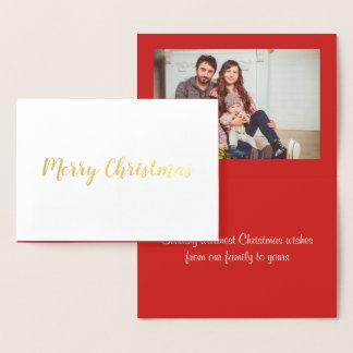Frohe Weihnacht-Folien-Gruß-Karte Folienkarte