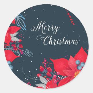 Frohe Weihnacht-Geschenk-Aufkleber Runder Aufkleber