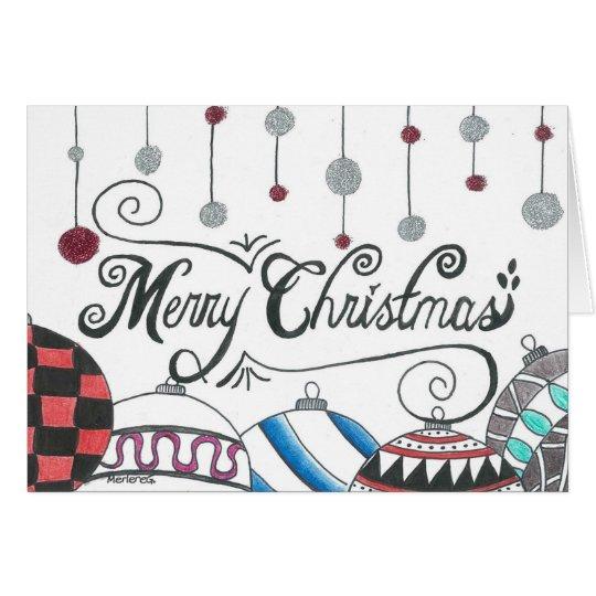 Frohe Weihnacht-Glitter Grußkarte