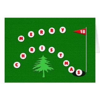 Frohe Weihnacht-Golf-Weihnachtskarte Grußkarte