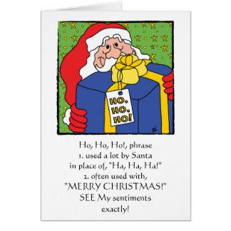 """Frohe Weihnacht-Gruß-Karte """"HO, HO, HO """" Karte"""