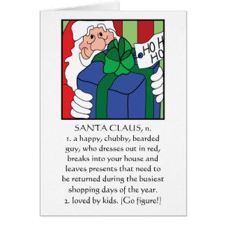 """Frohe Weihnacht-Gruß-Karte """"Weihnachtsmann """" Karte"""