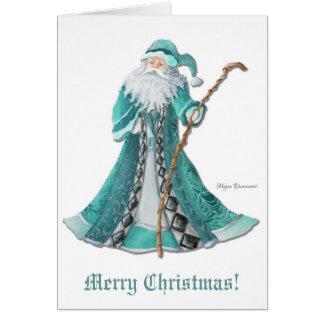 Frohe Weihnacht-Gruß-Karte Welts-Sankt Karte