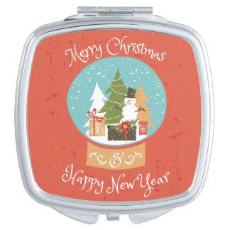 Frohe Weihnacht-guten Rutsch ins Neue Jahr Schminkspiegel