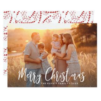 Frohe Weihnacht-Hand-mit Buchstaben 12,7 X 17,8 Cm Einladungskarte