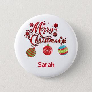 Frohe Weihnacht-hängende Verzierungen Runder Button 5,7 Cm