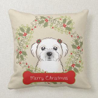 Frohe Weihnacht-Hundezucht Kissen