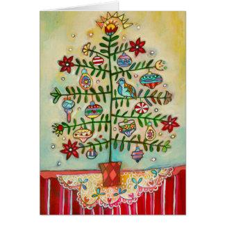 Frohe Weihnacht-illustrierte Karte