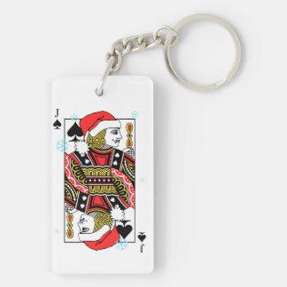 Frohe Weihnacht-Jack der Spaten Schlüsselanhänger