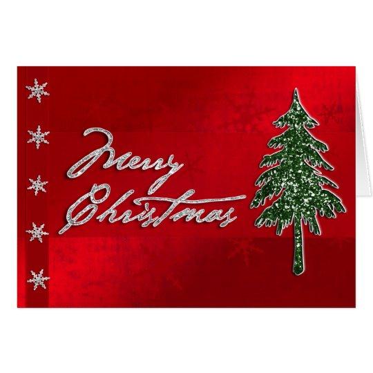 Frohe Weihnacht-Juwel-Karte Grußkarte