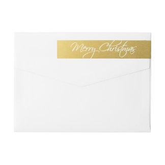 Frohe Weihnacht-Kalligraphie-Skript-Goldgewohnheit