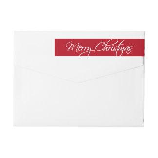 Frohe Weihnacht-Kalligraphie-Skript-Rot-Gewohnheit