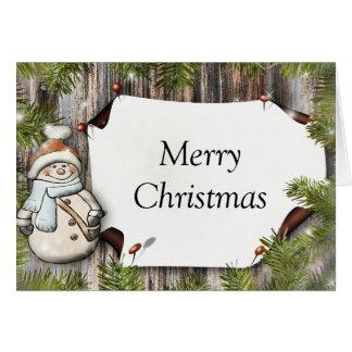 Frohe Weihnacht-Karte Grußkarte