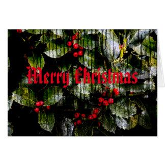 Frohe Weihnacht-Karte - Stechpalmen-Beeren-Entwurf Grußkarte