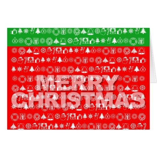 Frohe Weihnacht-Karten-Verzierungs-Ikonen-Rot Karte