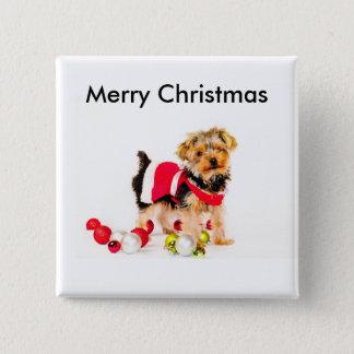 Frohe Weihnacht-Knöpfe Yorks Quadratischer Button 5,1 Cm