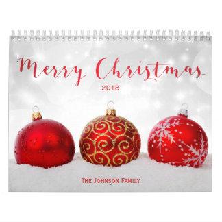 Frohe Weihnacht-kundenspezifischer Foto-Kalender Abreißkalender