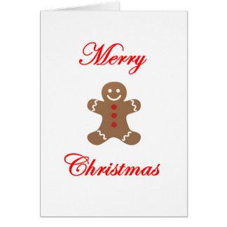 Frohe Weihnacht-Lebkuchen-Mann Karte