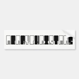 Frohe Weihnacht-lustiges Klavier befestigt Autoaufkleber