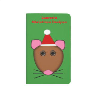 Frohe Weihnacht-Mäusekundengerechte Taschennotizbuch