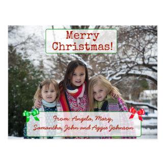 Frohe Weihnacht-personalisierte Postkarte