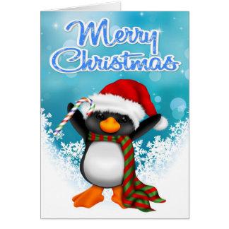 Frohe Weihnacht-Pinguin-Gruß-Karte Karte