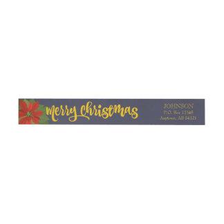 Frohe Weihnacht-Poinsettia-Feiertags-Blumenmarine