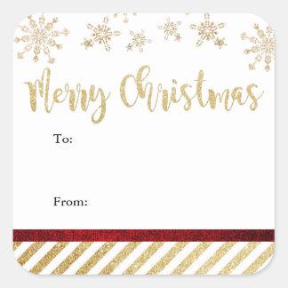 Frohe Weihnacht-Quadrat-Aufkleber Quadratischer Aufkleber