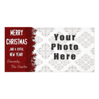 Frohe Weihnacht-Rot-Schneeflocke Karte