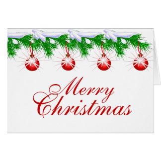 Frohe Weihnacht-rote Karte